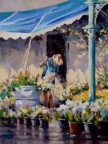 (oil) Floral Art, Carlton
